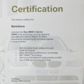 BMW CERTIFICATION